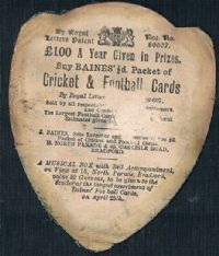1890s J.H. Crompton Bradford rugby player Baines card